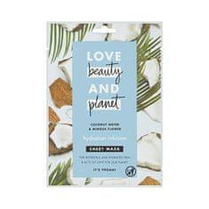 Love Beauty & Planet Textilné hydratačná pleťová maska s kokosovou vodou a kvety mimózy ( Hydration Infusion Sheet Mask)
