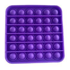 Pop It antistresová hračka štvorec fialový