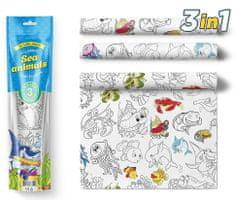 PEXI Maľovacie obrusy 3 ks - Morské zvieratká (Sea Animals)