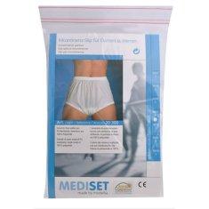 Mediset Inkontinenční pánské kalhotky s širokým měkkým gumovým pasem a absolutně nepropustnou PU - fólií po