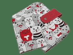 Šišipu Sada plenkovníku a obalu na očkovací průkaz Červené kočky v kině