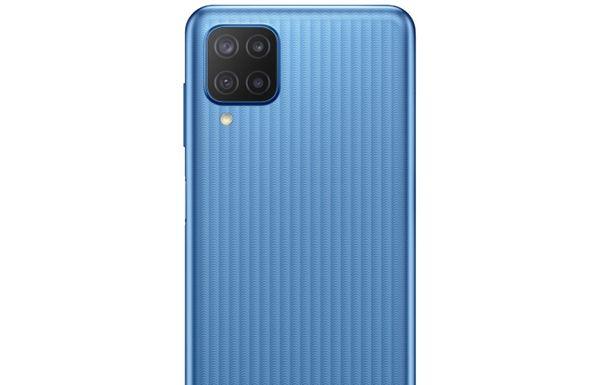 Samsung Galaxy M12 veľký displej 6,5-palcový PLS IPS displej HD+ 90 Hz obnovovacia frekvencia dlhú výdrž veľkokapacitná batéria 5000 mAh rýchlonabíjanie 15 W výkonný procesor Exynos 850 štvornásobný fotoaparát ultraširokouhlý makro hĺbkový objektív čítačka odtlačkov prstov NFC 4 GB RAM Bluetooth 5.0 Android 11 One UI 3.1 elegantný dizajn bezrámikový displej dual SIM