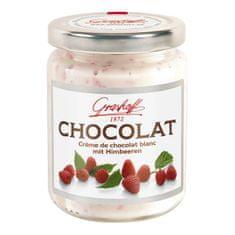 Grashoff Bílý čokoládový krém s malinami, sklo, 250g