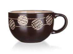 Banquet kubek ceramiczny jumbo COFFEE 660 ml brązowy