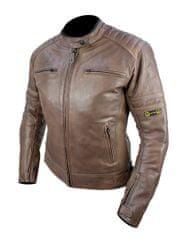 Cappa Racing Dámská kožená moto bunda DALLAShnědá