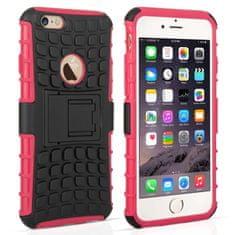 Caseflex műanyag tok Kickstand Combo iPhone 6/6s Rózsaszín