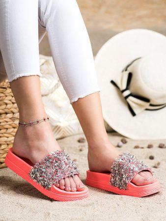Női papucs 70624 + Nőin zokni Gatta Calzino Strech, piros árnyalat, 37
