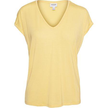 Vero Moda Női póló VMAVA 10235286 Cornsilk (Méret L)