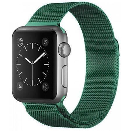 4wrist Milánói acél szíj Apple Watch - Zöld 38/40 mm