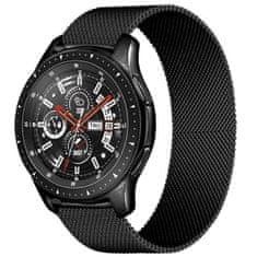 4wrist Milánský tah pro Samsung Galaxy Watch - Černý 22 mm