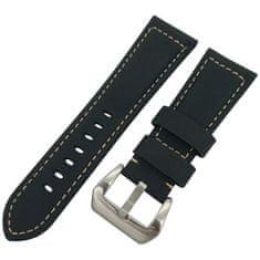 4wrist Kožený řemínek pro Samsung Galaxy Watch - Černý 22 mm