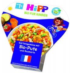 HiPP BIO Zelenina ze zahrádky s krůtím masem a rozmarýnem od 1 roku, 6 x 250 g