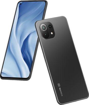 Xiaomi Mi 11 Lite 5G výkonný telefon bezrámečkový AMOLED displej Gorilla Glass 6 8jádrový procesor Qualcomm Snapdragon 780G trojnásobný fotoaparát 4250mAh rychlonabíjení 33W Quick Charge 4+ Android 11 MIUI 12 Bluetooth 5.2 NFC reverzní dobíjení lehký telefon datová síť 5G síť 4K videa 90Hz obnovovací frekvence ultraširokoúhlý makro HDR10+