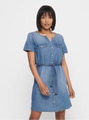 Jacqueline de Yong modré džínové košilové šaty Saint