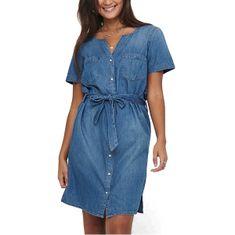 Jacqueline de Yong Dámské šaty JDYSAINT LIFE 15196698 Medium Blue Denim