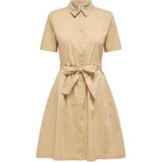 Jacqueline de Yong Dámské šaty JDYMILLIE LIFE 15209112 Warm Sand