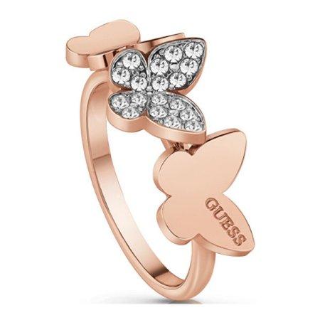 Guess Elegáns bronz gyűrű pillangóval UBR78005 (Kerület 56 mm)