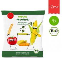 Freche Freunde BIO Zeleninové tyčinky s paradajkou, kukuricou a hráškom 4x 30g