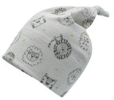 Maximo chlapecká čepička s uzlíkem z organické bavlny Gots Baby Boy