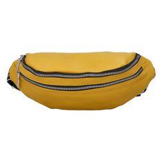 Turbo Bags Dámska koženková ľadvinka Smilja, žltá