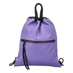 Phil Štýlový dámsky koženkový batoh Iriaka, fialový