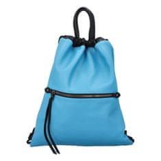 Phil Štýlový dámsky koženkový batoh Iriaka, modrý