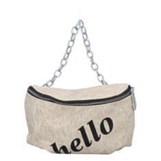 Turbo Bags Módna dámska ľadvinka s nápisom Hello, béžová
