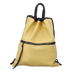 Phil Štýlový dámsky koženkový batoh Iriaka, žltý