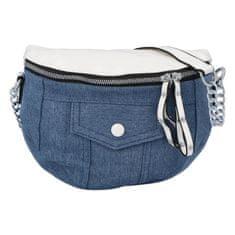Turbo Bags Retro jeansová ľadvinka Roy4l, biela