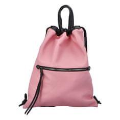 Phil Štýlový dámsky koženkový batoh Iriaka, ružový