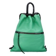 Phil Štýlový dámsky koženkový batoh Iriaka, zelený