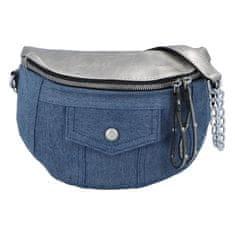 Turbo Bags Retro jeansová ľadvinka Roy4l, strieborná