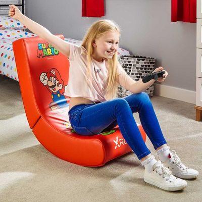 fotel do gry z mariem Nintendo super mario składane wygodne miękkie obicie odpowiednie jako leżak TV łatwe do czyszczenia dzięki pokrowcu ze sztucznej skóry