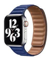 Coteetci Double Suction kožený remienok pre Apple Watch 38/40 mm WH5292-DB, tmavomodrá