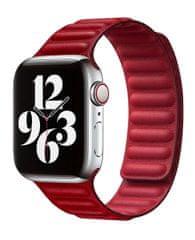 Coteetci Double Suction kožený opasok pre Apple Watch 38/40 mm WH5292-RD, červená