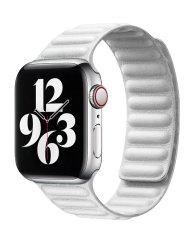 Coteetci Double Suction kožený opasok pre Apple Watch 38/40 mm WH5292-WH, biela