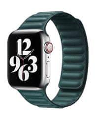 Coteetci Double Suction kožený remienok pre Apple Watch 38/40 mm WH5292-GR, zelená