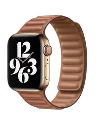 Coteetci Double Suction kožený remienok pre Apple Watch 42/44 mm WH5293-SN, hnedá