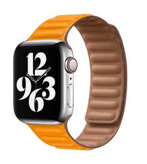 Coteetci Double Suction kožený remienok pre Apple Watch 42/44 mm WH5293-ML, žltá
