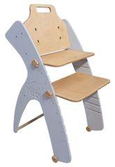 Smart Leo SIMPLE Vysoká židle - pudrová modrá