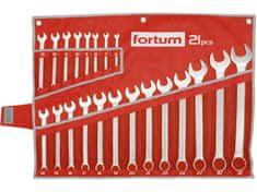 Fortum Očko-vidlicové kľúče 6-32mm, 21-dielna sada