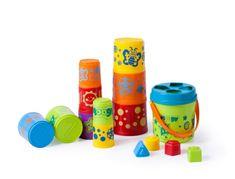 Miniland Baby Kocky, poháriky a vedierka - rôzne tvary, 12m-2r