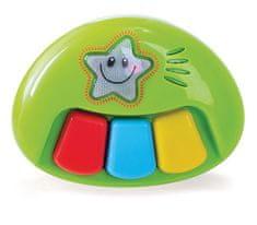 Miniland Baby Piano z muzyką i światłami, 12m-2r