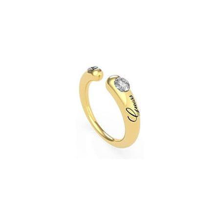 Guess Divatos aranyozott nyitott gyűrű kristályokkal UBR79061 (Kerület 56 mm)