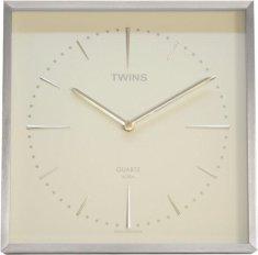 Twins Nástěnné hodiny Twins 2904 white 28cm