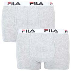 FILA 2PACK pánské boxerky šedé (FU5016/2-400)