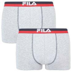FILA 2PACK pánské boxerky šedé (FU5020/2-400)