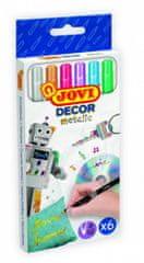 JOVI DECOR METALIC fixy 6 ks - barevné