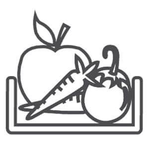 Chladnička Candy CMDDS 5144 WHN Přihrádka na ovoce