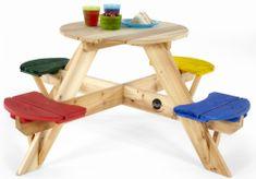 PLUM Drewniany stół piknikowy z krzesłami